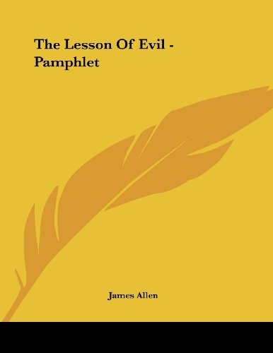 The Lesson Of Evil - Pamphlet