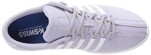 K-Swiss Women's Classic SL P Premium Slim Profile Sneaker, Pastel Lilac/White, 7 M US