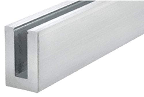 CRL L56S10D6 Mill Aluminum 10' L56S Series Standard Square Base Shoe Drilled with 9/16