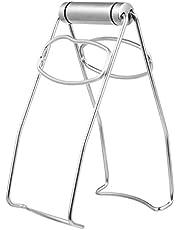 Hemoton Het tallrik klämma rostfritt stål kök vikbar platta tång gripskål klämmor panna skål gripklämmor hetplatta eller skålar klämhållare tång