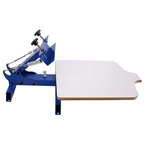 Simple Single 1 Color 1 Station T-shirt Silk Screen Printing Machine NS101 (Renewed)