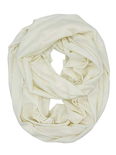 YOUR SMILE - Premium Women Thick Winter Warm Cable Infinity Circle Loop Cowl Scarf,Cream-Colored
