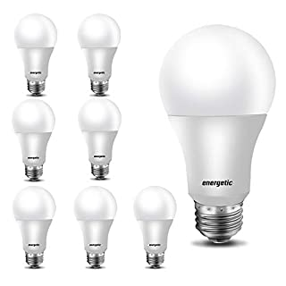 LED Bulbs 60 Watt, A19 Light Bulbs, Warm White 3000K, E26 Base, Non-Dimmable, 750lm, UL Listed, 8-Pack