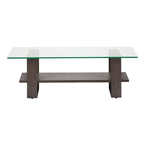 - Ethan Allen Rosemoor Glass-top Rectangular Coffee Table, Greenwich