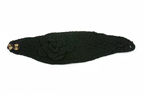 Pop Women's Headband Neck/Ear Warmer Hand made Black One Size
