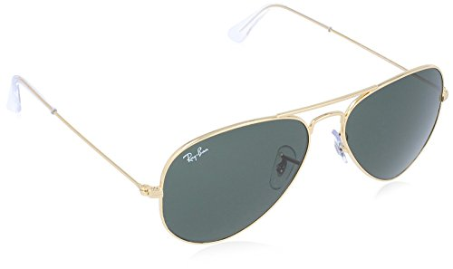 Ray-Ban Men's Large Metal Aviator Sunglasses, Gold, 55 mm by Ray-Ban