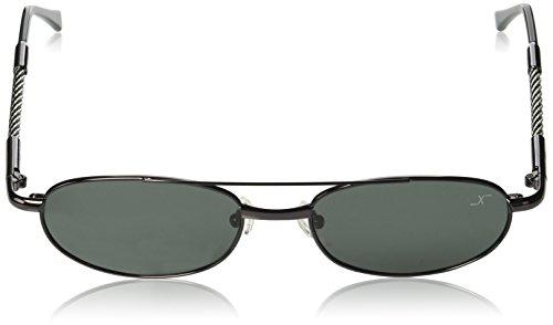 nbsp;Vintage UV400 0 polarizadas acero de sol gafas Xezo cable Gris oscuro titanio 9 metálico alambre y de nbsp;oz de BCx08wqzp