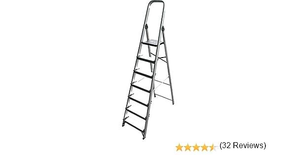 ALTIPESA - Escalera Doméstica de Aluminio, Peldaño 12 cm. (7 peldaños): Amazon.es: Bricolaje y herramientas
