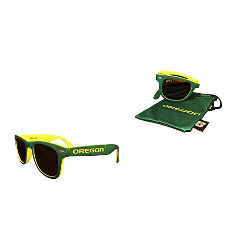NCAA Oregon Ducks Game Day Sunglasses with Microfiber Carrying Case/Pouch - Fully - Oregon Sunglasses