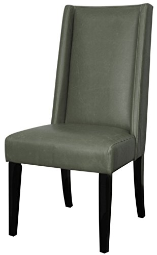 New Pacific Direct 358244B-V04-B Lucas Bonded Leather Dining Chair,Set of 2 Furniture, Vintage Gray ()
