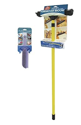FURemover Broom with Squeegee made from Natural Rubber
