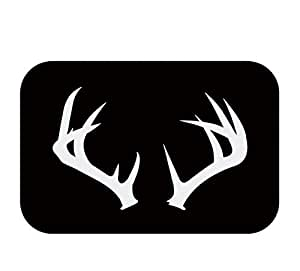 """Charming antlers Flannel Doormat non-slip mat 60x40cm / 24""""x16"""" Beautiful and comfortable"""