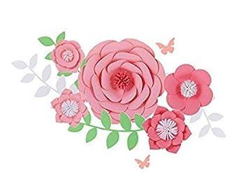 Amazon Com Fonder Mols Paper Flowers Decorations 5pcs 3d Pink Paper