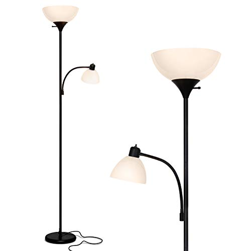 Brightech Sky Dome Plus – Super Bright LED Torchiere & Reading Floor Lamp – Dimmable Modern Standing Pole Lamp for…