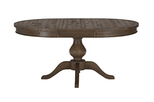 Jofran: 941-66TBKT, Slater Mill, Round to Oval Dining Table, 48