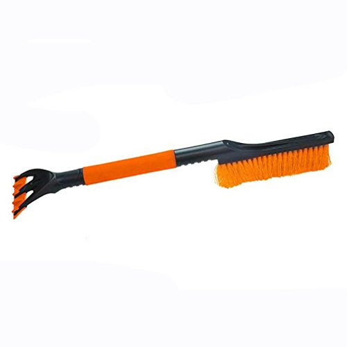 LPY-Easy Disassembly Tool Set include Ice Scrape Microfibre Cleaning Pad Snow Brush Vehicle Snow for Cars , Orange by Car removal snow Shovel