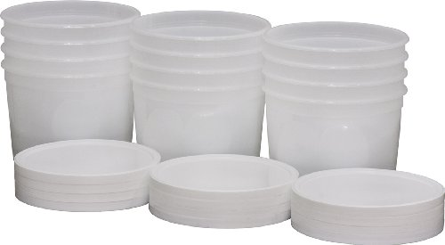 DoughXpress Dough Ball Storage Tub With Lid, 2-Quart Capacity, 6-1/2