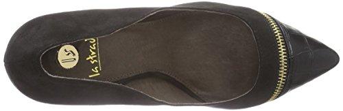 La Strada Schwarze Kroko-Suède-Look Pumps - zapatos de tacón cerrados de material sintético mujer negro - Schwarz (2201 - micro black)