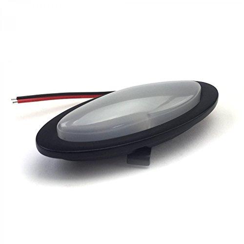 AutoLoc Power Accessories 321103 1172907 Billet Interior Courtesy Dome Light 30 Degree Angled Bezel LED Black Street ()