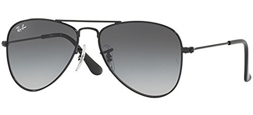 Ray-Ban Kids' 0rj9506s220/1152junior Aviator Sunglasses, Shiny Black, 52 - Junior Ray Sunglasses Aviator Ban