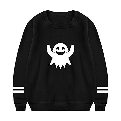 EVEHOODIES Happy Ghost Men's Casual Sweatshirt Boys Fashion Crew Neck Hoodies Long Sleeve -