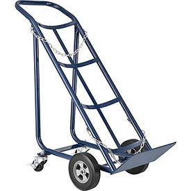Tilt Back Cylinder Hand Truck with Curved Handle, 800 Lb. Capacity, ()