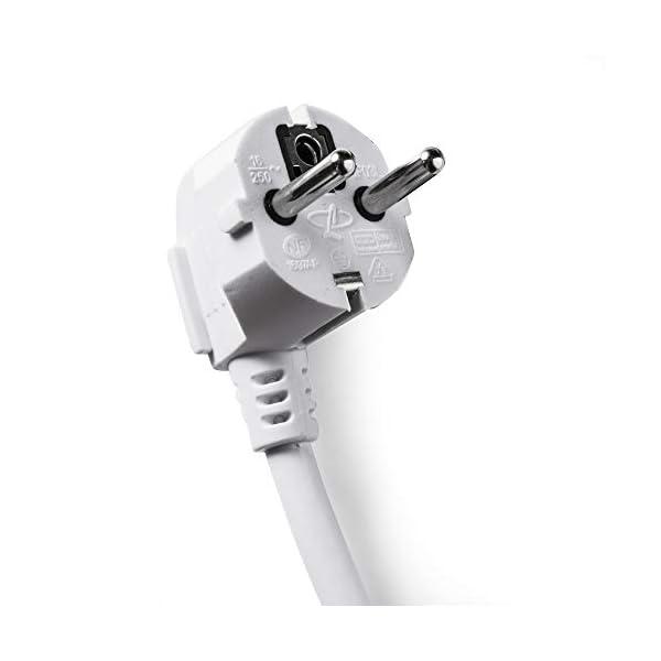 FAMATEL – Regletas ecosockets 5 tomas | Enchufes con Interruptor Luminoso | 1,5 Metros | Hasta 3680W | Protección…