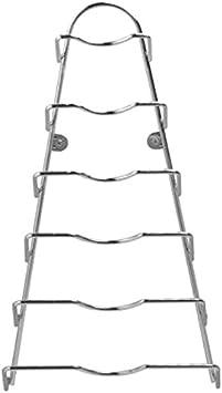 5x Topf Deckelhalter Ablage Regal Teller Halterung Küchenhelfer Deckelständer G
