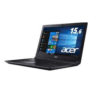 エイサー 15.6型 ノートパソコン Aspire 3 オブシディアンブラック(Ryzen 5/メモリ 8GB/SSD 256GB/AMD Radeon 535) A315-41G-HR58U   B07MTNZ6NV