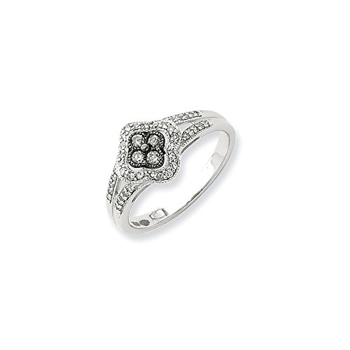Sterling Silver Black & White Diamond Ring by CoutureJewelers