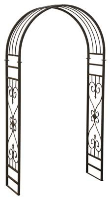 sunjoy industries l-ab213pst Rounded Arch Design, Steel Arbor