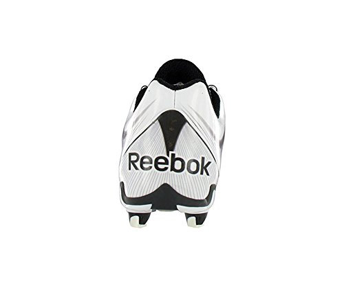 Reebok NFL Burner Speed LT Low SD4 Mens Football Shoes Size US 14, Regular Width, Color Black/White/Silver