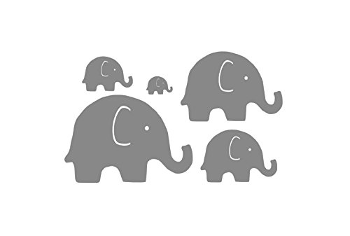Good Set Of 5 Vinyl Elephants, Grey Yellow Baby Shower, Elephant Baby Room, Elephant