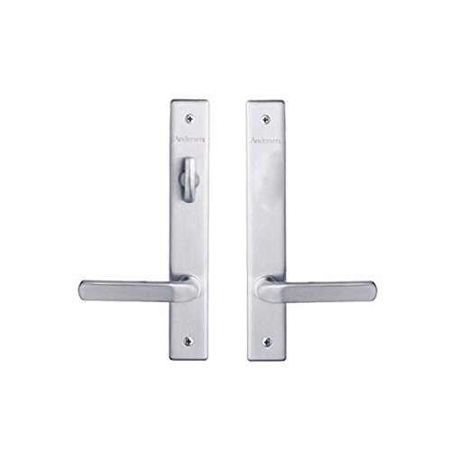 Andersen Anvers Style (Double Active) Hinged Door Hardware Set in Satin Nickel (Hinged Double Doors)
