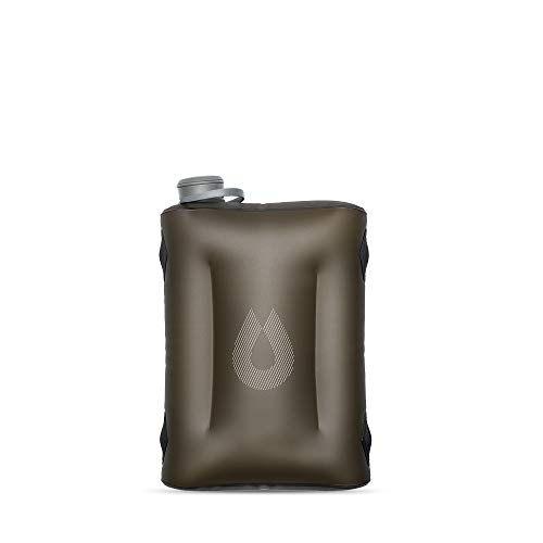 HydraPak Seeker - Collapsible Water Storage (4L/140oz) - BPA & PVC Free Camping Hydration Reservoir - Mammoth Grey