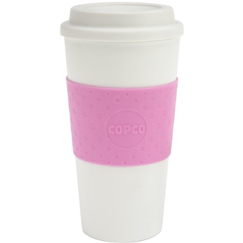 2000 Ceramic Mug - Copco 2510-9920 Acadia Double Wall Insulated Travel Mug with Non-Slip Sleeve, Bubble Gum