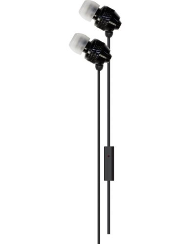 Delton 3.5 mm Stereo Sound Ear Buds With Mic, For All Apple Ipads, Ipods, Iphones, Androids, Mp3 Players, And All Audio Devices Using A 3.5 mm Jack-Black