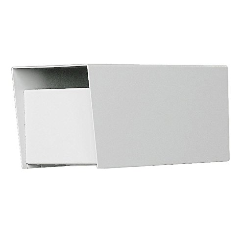 Jayco LLLCKRURAL Residential Rear Locking Letter Locker Mailbox with incoming mail slot White