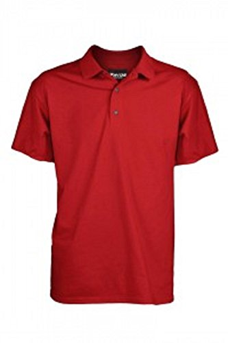 Fayde Golf Europe Essentials Youth Golf Polo Shirt (Red, Youth Medium)