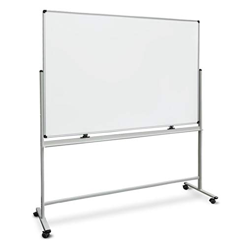 - Master Of Boards Mobile Rolling White Board - 360° Rotating Double-Sided Mobile Dry Erase Board with Portable White Board Stand | 72