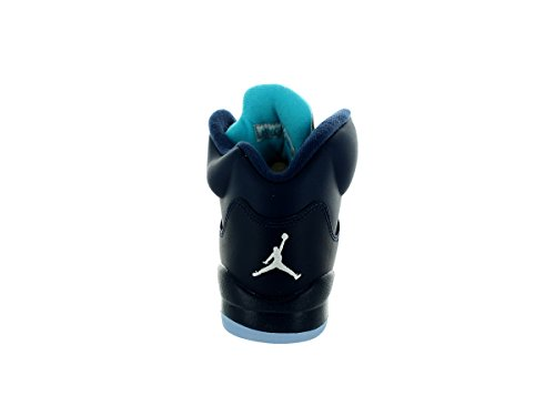 Nike Air Jordan 5 Retro Bg, Zapatillas de Deporte para Niños Azul / Blanco (Midnight Navy / Trqs Blue-White)