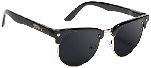 a3ff53630b Glassy Sunhaters Sunglasses Morrison Black Gold with Black Polarized Lens