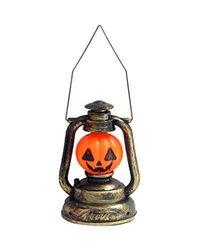 Hillento 3D Halloween Pumpkin Lights, Vintage Retro Style Lantern Music Lights, Scary Music Sound Lantern for Halloween Decorations]()