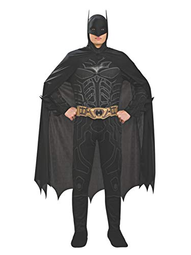 Batman The Dark Knight Rises Adult Batman Costume, Black, Large]()