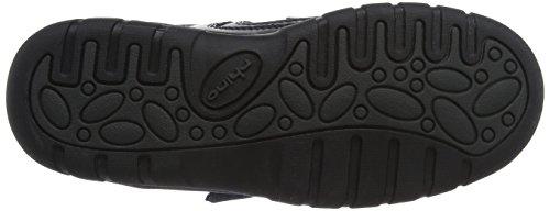 Rite Oliver schwarz Leder Jungen Klettverschluss Schuh