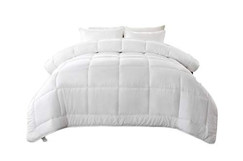 !Best Seller! Hotel Collection Down Alternative Comforter Duvet Insert - Hotel Quality Comforter King/Cal-King White Solid - Hypoallergenic,Plush Siliconized Fiberfill by Spreads Galore (Best Deals On Down Comforters)