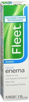 Fleet Saline Enema Laxative - 4.5 oz, Pack of 6 (Saline Laxative Enema)