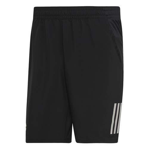 adidas Men's Club 3-Stripes 9-Inch Tennis Shorts, Black/White, X-Small by adidas (Image #5)