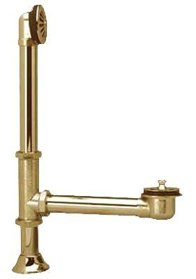 Elements Of Design Brass Polished Tub (Elements of Design DS2082 St. Louis Clawfoot Tub Waste and Overflow Drain, Polished Brass)