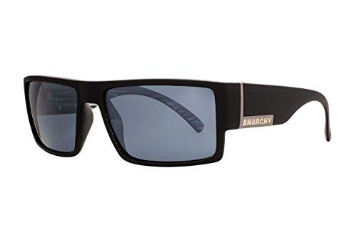 Anarchy Black Matte - Anarchy Eyewear Argh Sunglasses, Matte Black with Striped Black Demi